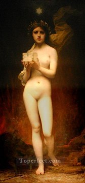nude naked body Painting - Pandora female body nude Jules Joseph Lefebvre